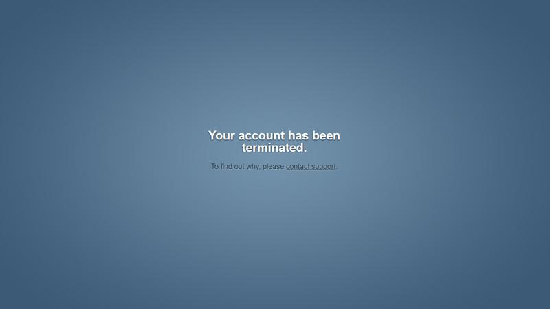 Tumblr Account Terminated