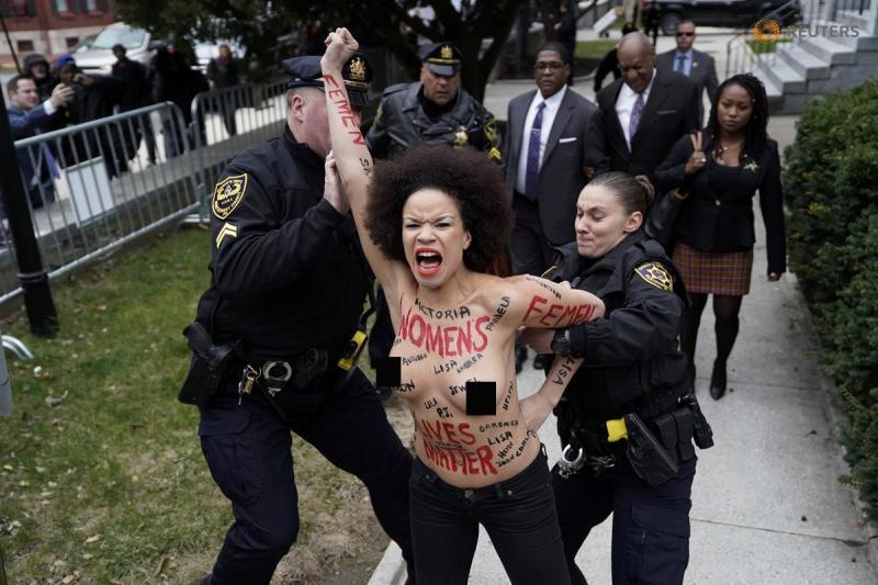 Cosby Protester