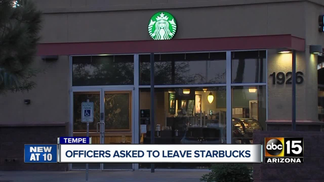 Should the police be allowed to drink Starbucks?